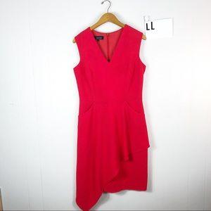 Teri Jon Rickie Freeman red mini dress Sz 10